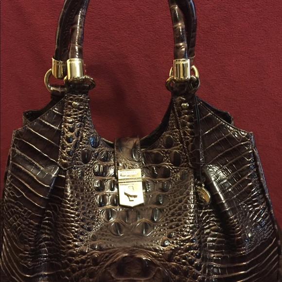 Brahmin Handbags - Brahmin Elisa Crocodile-Embossed Hobo Bag 7f2a05fb66ef1